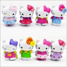 8Pcs Lovely Classic Limited Edition Hello Kitty Toy Figure Collection 3""