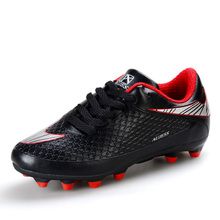 Size 33-39 Boys Kids Football Boots FG Soccer Shoes Children PU Leather Cleats S36 - AIverson Offical Store store
