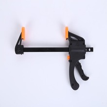New 2017 4 Inch Quick Ratchet Release Speed Squeeze Wood Working Work Bar Clamp Clip Kit Spreader Gadget Tool DIY Hand