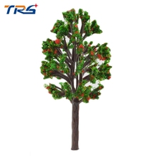 Teraysun 6CM red and green color Scenery Landscape Train Model Scale Color Trees for model design(China)