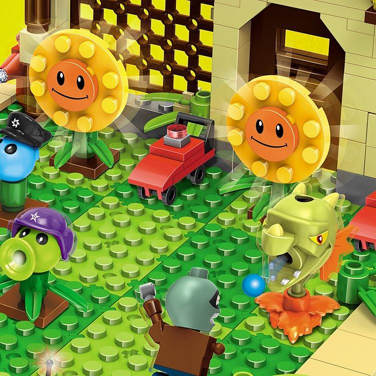 2019 New 2 style plants vs zombies Set Anime Garden Maze Struck Game Building