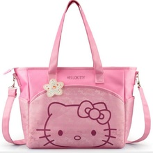 oxford hello kitty mummy bag Women Casual shopping bag Cartoon bag women tote picnic bag 2 colors(China)