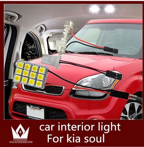 Guang Dian car led light Interior light Dome light 5050chip Read indoor led Trunk Light t10 festoon for kia soul 2008-2015<br><br>Aliexpress