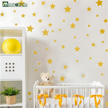 Maruoxuan Gold And Silver Foil Star Stickers Kids Room Bedside Cabinets Bathroom Glass Decoration PVC Waterproof Wall Stickers