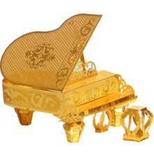3D Metal Nano Puzzle Grand Piano Model Kits P024-G DIY 3D Laser Cut Assemble Jigsaw Puzzle For Gifts(China)