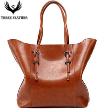 THREE FEATHER Occident Simple Style Women's Mujer Female Patent Leather Handbag Purse Totes Fashion Shoulder Cross Body Bag S092(China)
