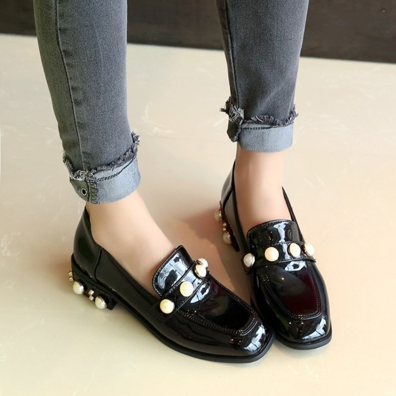 2018 Lukuco slip-on comfortable leisure shoes retro flats popular lady shoe plus size 37 38 39 40 41 42 43 44 45 free shipping
