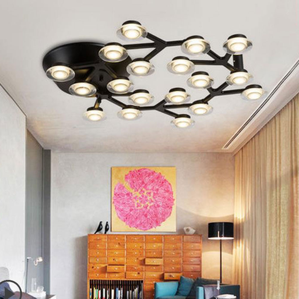 AC100-240V Art Deco Designs Novelty lighting fixture black todpole diamond circle rings LED wall ceiling chandeliers lights lamp<br><br>Aliexpress