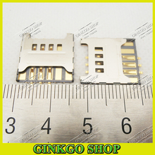 10pcs SIM card reader holder Connector for samsung F619 C3730 3730C S5570C T959 S8500 SIM Card Slot Free shipping(China)