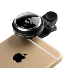 Universele Clip 235 Degrees Super Fisheye Camera Fish Eye Lens For iphone 4 4s 5 5s 5c SE 6 6s 7 Plus Mobile Phone Lenses