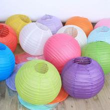 10pcs/lot 15-20-25-30-35 cm Many Colors Paper Ball Chinese Paper Lanterns For Party and Wedding Decoration Hang Paper Lanterns