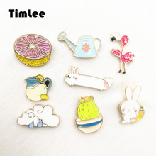 X017 Cartoon Oil Drop Rabbit Orange Cloud Kettle Honey Brooch Pins Button Pins Girl Jeans Bag Decoration Gift  Bijoux Wholesale