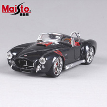 1:24 Scale children 1965 Shelby Cobra 427 metal diecast race vintage style collectible office model mini cars toys gift for kids(China)