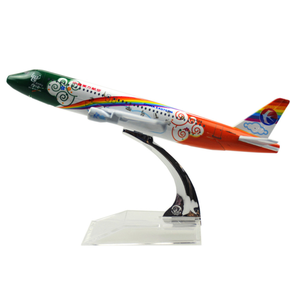 China Eastern Airlines 6th Airbus A320 16cm model airplane Birthday gift plane models toys Free Shipwping Christmas gift(China (Mainland))
