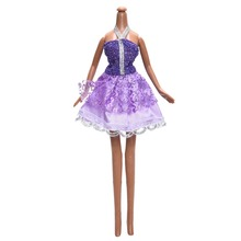 1 Pcs Purple Princess Halter Lace dress for Barbie Clothing Lovely Kids Girls Toy