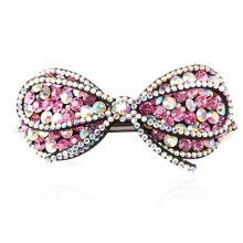 M MISM Women Western vintage Hair Clip Crab Full Rhinestone Hair Clamp Female Girl Head Accessories Elegant Bow hairgrip(China)