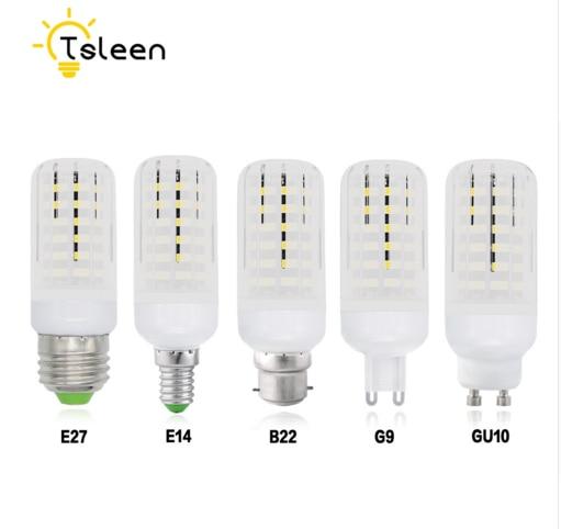 tsleen e27 e14 led bulbs corn lights smd5733 220v gu10 g9 b22 led corn bulb lamp