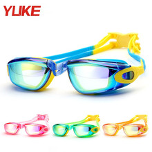 YUKE Anti Fog UV Protection Children Swimming Goggles Teenagers Waterproof Swimming Glasses Kids Swim eyewear(China)