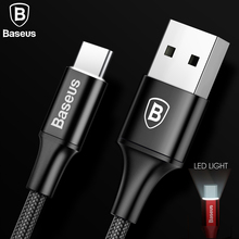 Baseus USB Cable For Samsung S8 USB Type C Charger Cable For Huawei Mate9 10 P9 10 Xiaomi Mobile Phone Cable 2A Type-C Cable