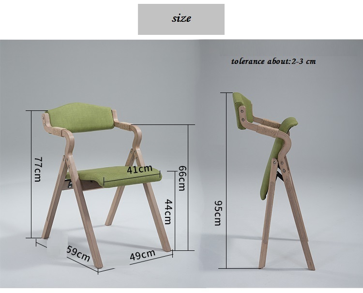company green chair folding stool wood frame furniture market retail wholesale garden chair(China (Mainland))
