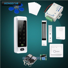 HOMSECUR Wiegand 26/34 Anti-Vandal 13.56Mhz IC Access Control System+Waterproof 180KG Magnetic Lock