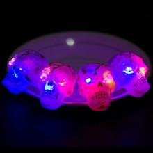 Fashion Light-Up Glowing Ghost Pumpkin Eyeballs Rings LED Flashing Finger Light Children Glow Party Halloween Christmas(China)
