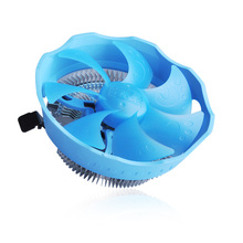 Pccooler cpu cooler Blue LED quiet for AMD and Intel 775 1150 1151 1156 computer PC Removable Washable cpu cooling radiator fan