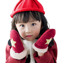 Winter Children Gloves Kids Boys and Girls Gloves Thicken Warm Baby Gloves with full fingers for 2 to 6 Years old New Year Gifts(China)