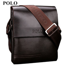 New Arrived POLO Genuine leather men's messenger bag mini fashion shoulder bag cross body bag business briefcase Free Shipping(China)