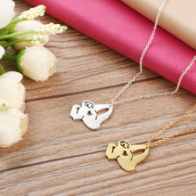 Handmade Very Confident Sloth Necklace Pendant Collares Mujer Plated Silver Animal Chain Jewellery Accessories For Gift