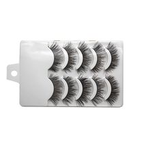 5 Pairs/Set Handmade Charming Soft Makeup Cross Thick Black Long False Eyelashes Natural Fake Eye Lashes Extension Tools(China)