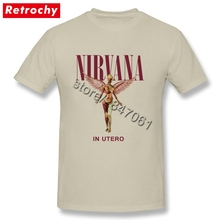 Nirvana T Shirt Grunge Band In Utero Tees Tall Guy Vintage Style Tee Crew Cheap Price Branded Best Valentines Gift for Him(China)