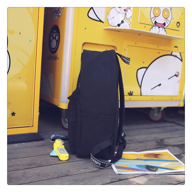 School Bag Wemen Korean Style Harajuku Ulzzang High School Student Fashion Popular Joker Backpack Canvas Simple Preppy Style05