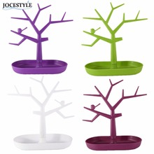Display Jewelry Organizer Show Rack Jewelry Necklace Ring Earring Tree Stand Necklace Organizer Jewelry Tree Earings Holder(China)