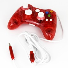 2016 New Red Mini Durable Wired Transparent Game Pad Usb Controller Joypad For Xbox 360 Free Shipping