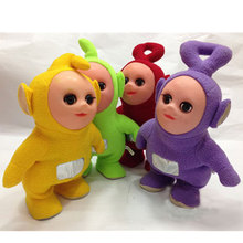 12'' Walkable Singing Teletubbies Stuffed Interactive Toy Plush Figure 3D Tubbies Battery Operated Baby Kids Toys Children Gifts