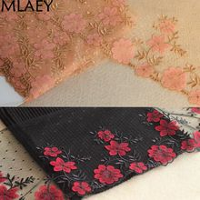 MLAEY 2Yards red Exquisite Embroidered Flower Lace Trim High Quality Lace Fabric DIY Craft&Sewing Dress Clothing Accessories(China)