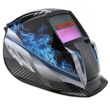 Blue Fire Adjust Solar Power Auto Darkening TIG MIG Grinding Welding Helmets / Face Mask / Electric Welding Mask(China)
