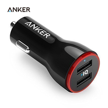 Anker 24W Dual USB Car Charger PowerDrive 2 for iPhone; Samsung Galaxy; LG G4 / G5; Google Nexus; iOS and Android Devices
