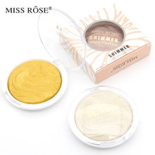 Miss rose baked shimmer highlighter and bronzer powder face makeup palette contour shine soft sleek iluminador maquiagem(China)