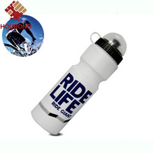 1 Pc 2016  750ml Ride Bicycle Sports Water Bottle With Lid  Bike Water Bottle For Mountain Outdoor Camping Supplies
