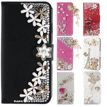 Hot Sale Phone Wallet Stand Holder Case Bling Rhinestone Cover Phone Protective Skin For LG K8 (2017) / Aristo / LV3 V3 MS210