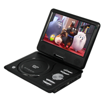 LONPOO 9 inch Portable DVD Player EVD Swivel Screen USB SD Card Earphone TV FM Rechargeable Battery VCD CD MP3 MP4 DVD Player
