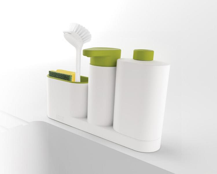 ASFULL Multifunctional Washing Sponge Storage Sink Detergent Soap Dispenser Storage Rack Hand Sanitizer for Bottle Kitchen use 5