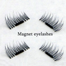 4pcs/pair 3D Magnetic False Eyelashes Lashes Natural Long Magnetic False Eyelashes Cross Thick Eye Lashes Eyelash Extension Kit