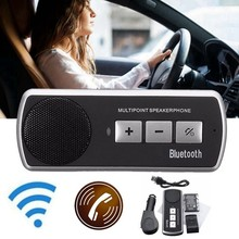 KROAK Wireless Bluetooth Car Kit Handsfree Speaker Phone Sun Visor Clip Drive Talk Speakerphones For iPhone Android(China)
