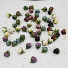 5pcs/lot Silk Rose Bud Artificial Flower For Wedding Party Home Plants Decoration Mariage Cloth Hat Accessories Fake Flowers(China)