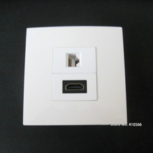 Hot Sell HDMI+ RJ45 Wall Plug Socket Port Work With Computer DVD For Home Using 86x86mm Panel Plug