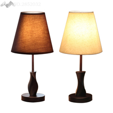 Modern bedside Wood table lamps wooden base for living room bedroom home decor study small desk lamp luminaria lamparas(China)