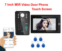 "High - definition intelligent WIFI network wireless7""video door phone with anti - theft alarm ID card&Password Unlock Motion Det"